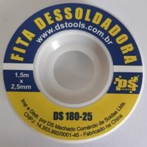 FITA DE MALHA DESSOLDADORA 2,5MM 1,5 METROS DS TOOLS DS180-25