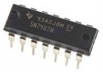 circuito integrado SN7407N dip 14 pinos texas